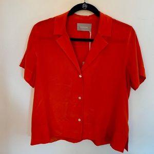 Everlane Silk Short-sleeve top in Poppy (Size 4)